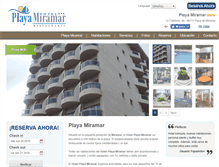 Tablet Preview of hotelplayamiramar.es